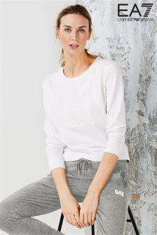 Emporio Armani EA7 White Sweat Top