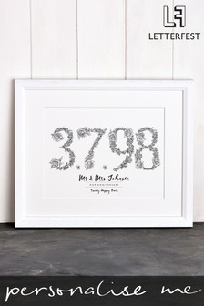 Personalised Memorable Day Print By Letterfest