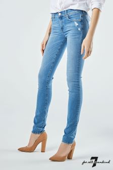 7 For All Mankind Light Indigo Mid Rise Roxanne Jean