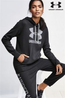 Under Armour Black Favourite Fleece Sportstyle Hoody