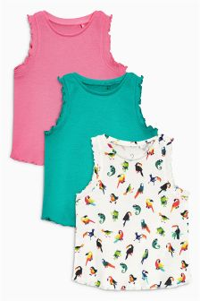 Parrot Vests Three Pack (3mths-6yrs)
