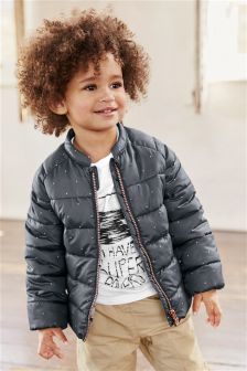 Charcoal Padded Jacket (3mths-6yrs)