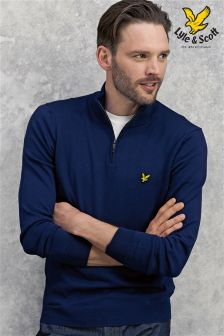 Lyle & Scott Zip Neck Knit Jumper