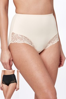 Lace Light Control Shaping Shorts Two Pack