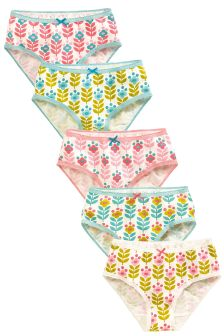 Retro Floral Briefs Five Pack (1.5-16yrs)