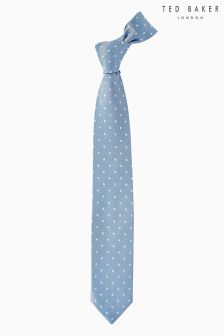 Ted Baker Navy Fedae Hearts Tie