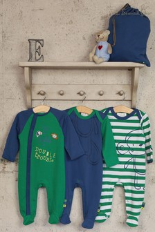 Joules Navy Multi Stripe Bobble Hat