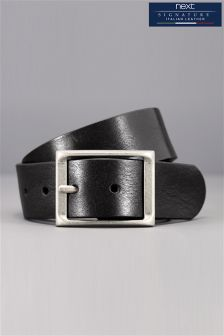 Signature Italian Leather Full Buckle Belt