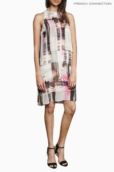 French Connection Pink Cornell Sheer Block Front Dress