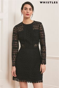 Whistles Navy Emma Circle Lace Dress