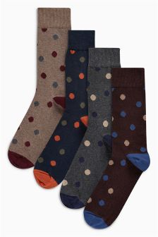 Spot Socks Four Pack