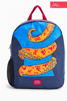 Joules Navy Octopus Backpack
