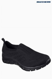 Skechers® Black Empire Stretch Knit Slip On Trainer