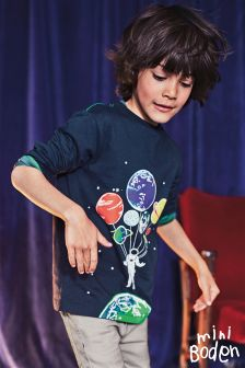 Boden Midnight Astronaut Ground Control T-Shirt