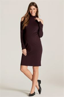Maternity Cold Shoulder Dress