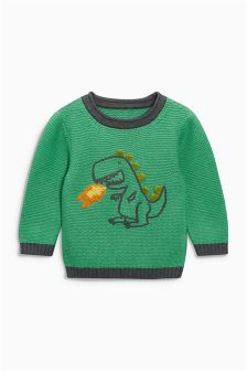 Dino Crew Neck Jumper (3mths-6yrs)