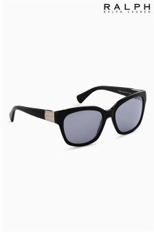 Ralph by Ralph Lauren Black Rim Logo Arm Sunglasses