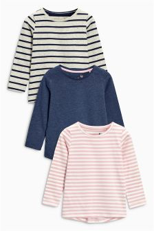 Long Sleeve T-Shirts Three Pack (3-16yrs)