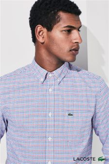 Lacoste® Blue/Red Oxford Check Shirt