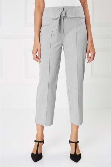 Cropped Belt Trousers
