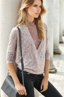 Wrap Lace Layer Wrap Top