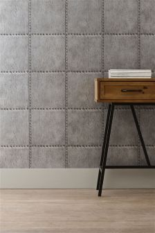 Paste The Wall Metal Rivet Look Wallpaper