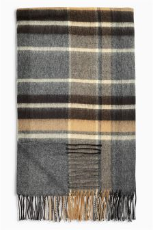 Oversized Check Scarf