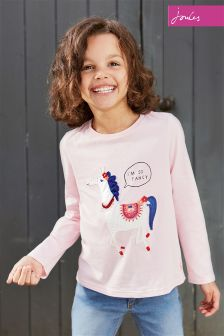 Joules Pink Ava Horse Long Sleeve Top