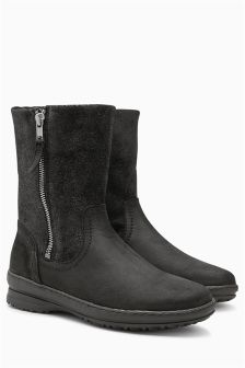 Borg Lined Zip Boots