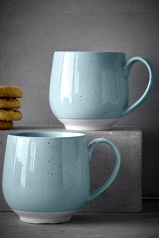 Set Of 2 Speckle Mugs