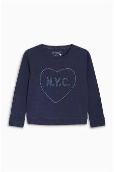 Sequin Slogan Sweater (3-16yrs)