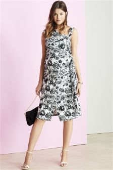 Maternity Wrap Bodycon Fiesta Dress