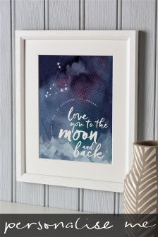 Love You To The Moon Illustration By Letterfest