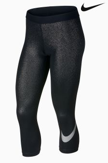 Nike Pro Black/Silver Capri