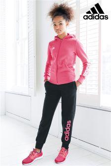 adidas Black/Pink Linear Pant