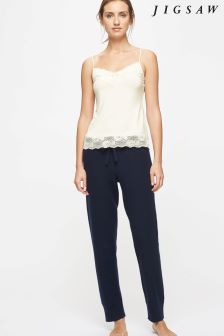 Jigsaw Cream Modal Lace Vest