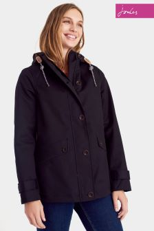 Joules Coast Black Hooded Jacket