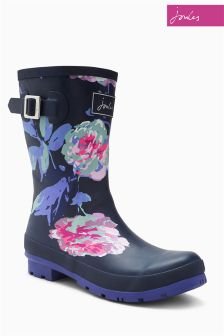 Joules French Navy Beau Blue Molly Mid Welly