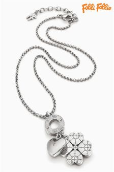 Folli Follie Silver Sweetheart Pendant Necklace