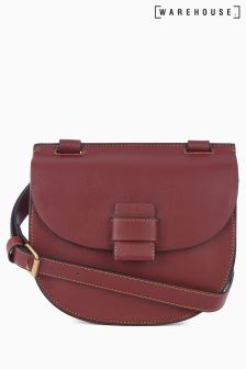 Warehouse Berry Stitch Tab Saddle Bag