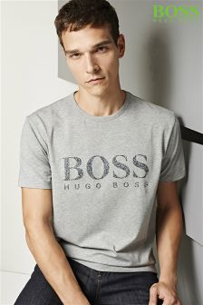 Boss Green Grey Logo T-Shirt