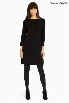 Phase Eight Black Esmeralda Eyelet Snowy Dress