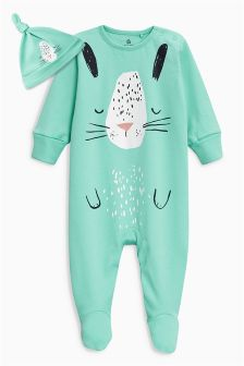 Bunny Sleepsuit And Hat (0mths-2yrs)
