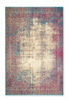 Antique Effect Fuchsia Oriental Rug