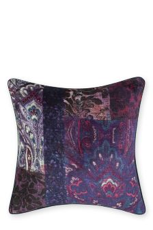 Velvet Patchwork Cushion