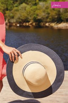 Joules Navy Trim Mandy Wide Brimmed Sun Hat