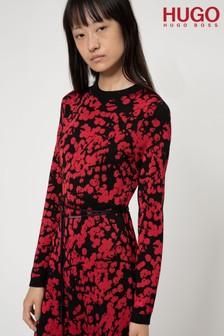 Coast Pink Rose Marie Jacquard Skirt Dress