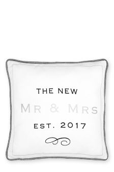 Mr And Mrs Established In 2017 Cushion