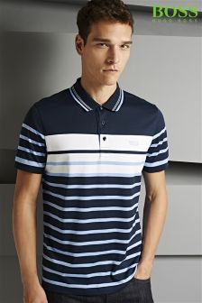Boss Green Striped Paule Poloshirt