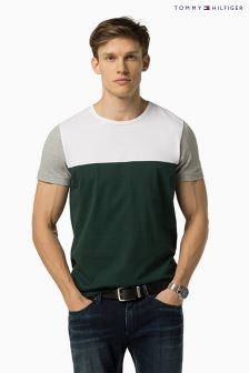 Tommy Hilfiger Green Stan Colourblock T-Shirt